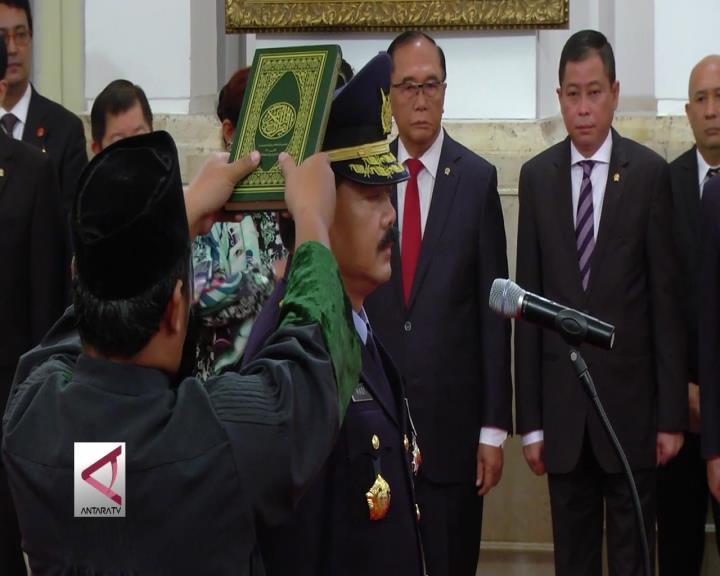 Presiden Lantik Marsekal TNI Hadi Tjahjanto