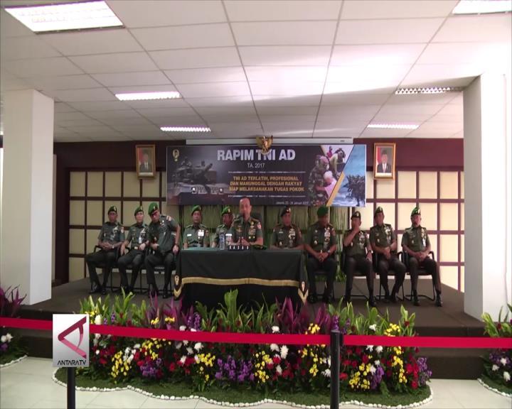 Pimpinan TNI AD Evaluasi Kinerja dan Anggaran 2016