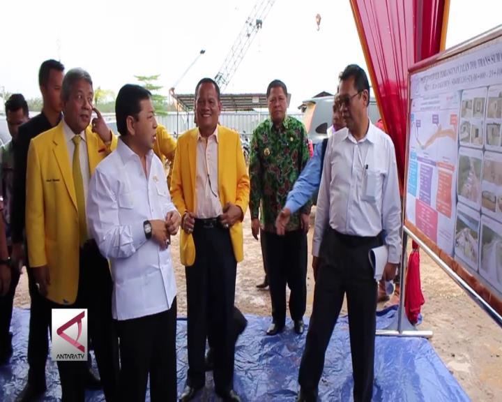 Setya Novanto Tinjau Tol Bakauheni Palembang