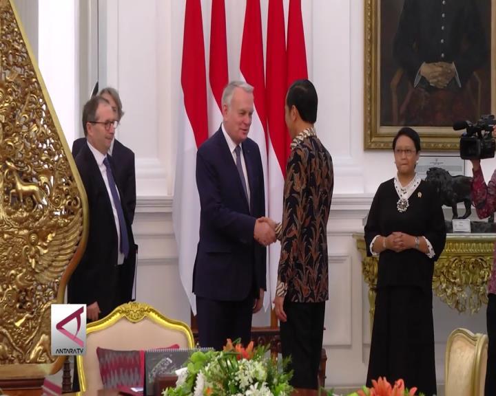 Presiden Terima Kunjungan Menlu Prancis
