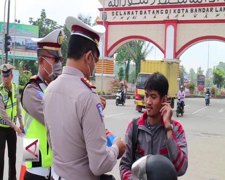 Pelanggaran Lalin di Lampung Turun 15%