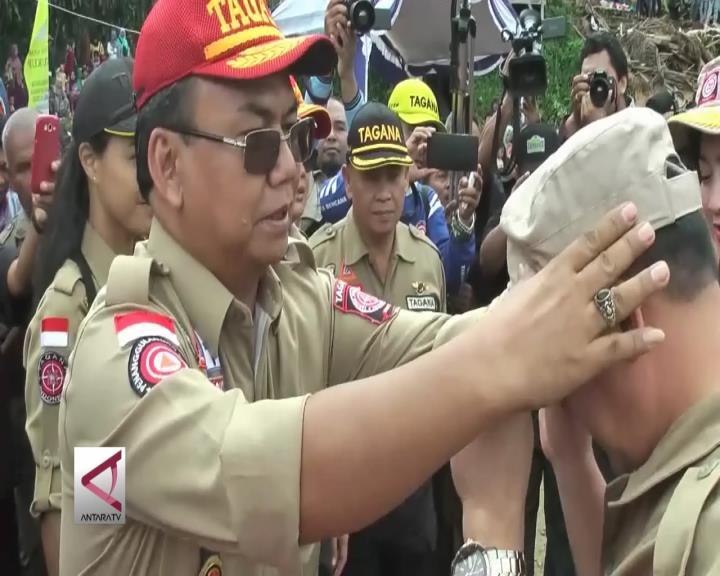 Kemensos Bentuk Kampung Siaga Bencana Sukabumi