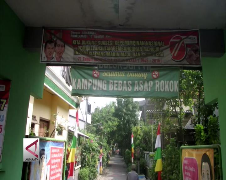 Kampung Bulaksari Surabaya Sehat Tanpa Asap Rokok