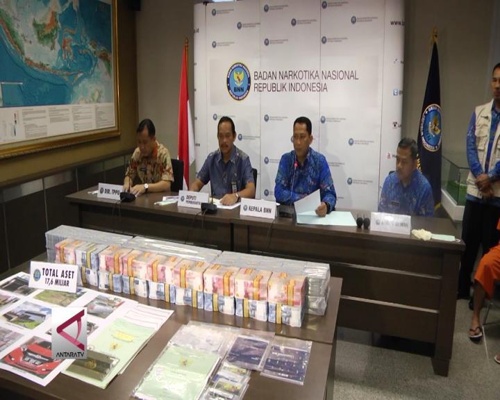BNN Sita Uang Narkotika Rp 17,6 Miliar