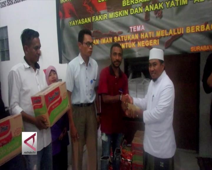 Komunitas Papua Gelar Bakti Sosial di Surabaya