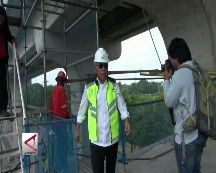 3 Menteri Tinjau Progress LRT Palembang