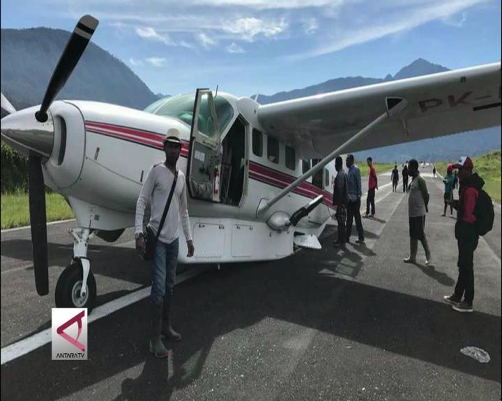 Pesawat Tergelincir Di Ilaga Papua