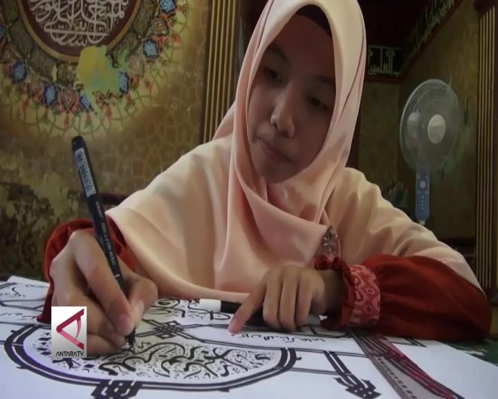 Belajar di Pesantren Kaligrafi Al-Quran Lemka