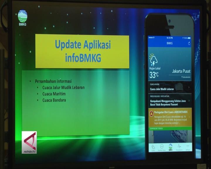 BMKG Tambah Fitur Pada Aplikasi Mobile