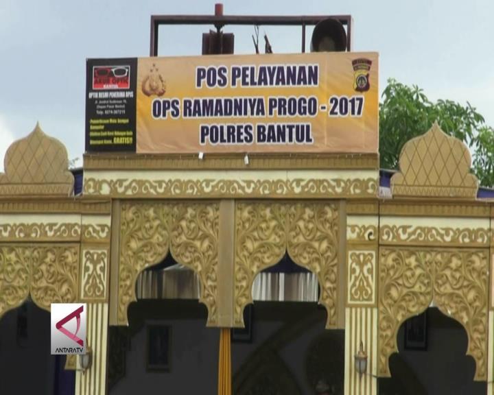 Pos Pengamanan Lebaran Berbentuk Masjid di Bantul