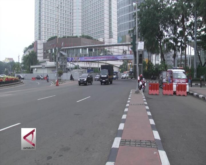 Jalan Protokol Jakarta Mulai Sepi