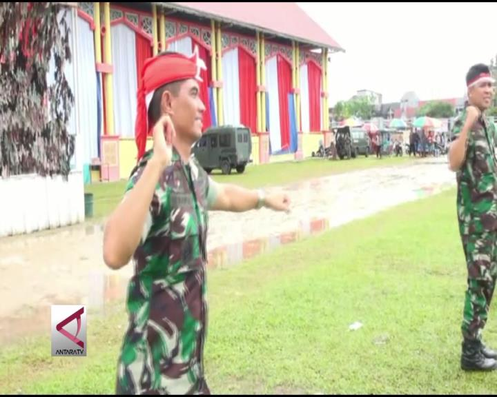TNI Tanamkan Nilai Pancasila Kepada Pelajar di Kalteng