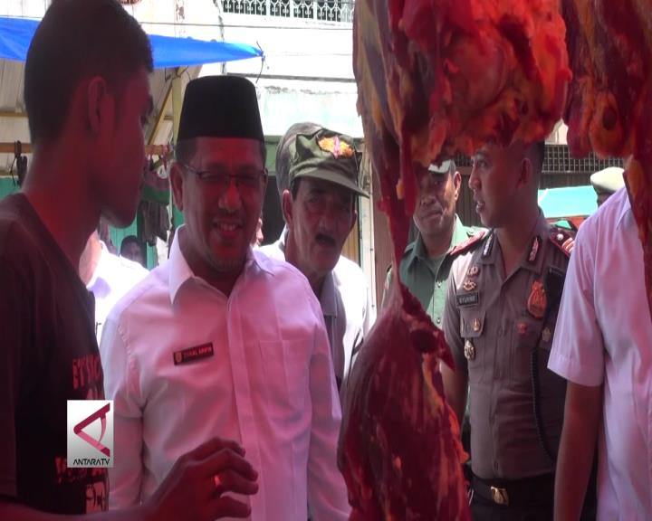 Wakil Wali Kota Tinjau Pasar Daging Meugang
