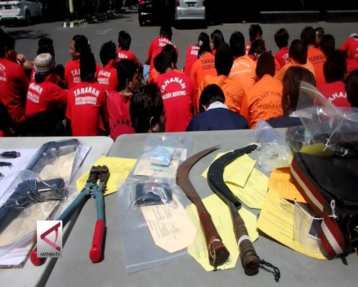 Surabaya Ungkap 62 Kejahatan Selama Agustus