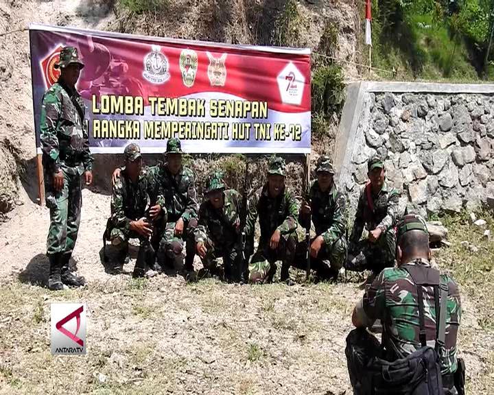 Lomba Nembak Satuan Matra Sambut HUT TNI