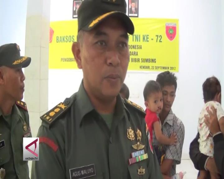 Korem 143 Haluoleo Gelar Operasi Bibir Sumbing