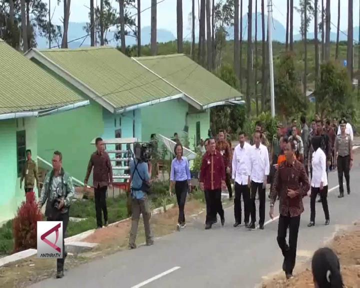 Presiden Tinjau Rumah Relokasi Pengungsi Gunung Sinabung