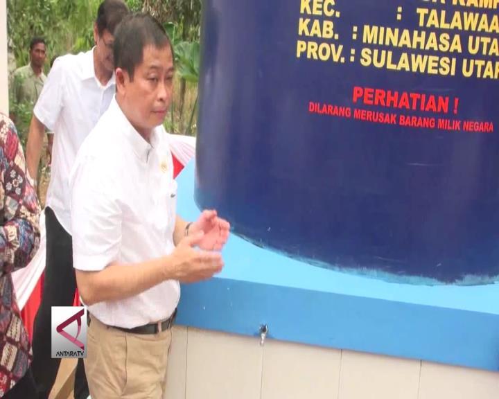 Menteri ESDM Resmikan Sarana Air Bersih di Sulawesi Utara