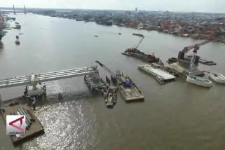 Mahkota Tanjak hiasi pilar Jembatan Musi IV