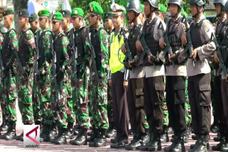 Apel gabungan Polda Kalteng pengamanan  Pilkada 2018