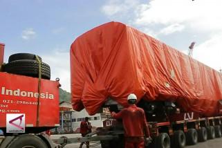 Kereta api bandara Sumbar tiba di pelabuhan