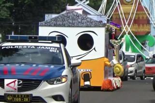 Pawai kendaraan warnai deklarasi kampanye damai