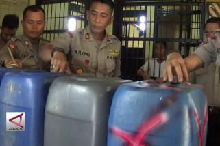 Polsek Biromaru sita 600 liter Miras tradisional