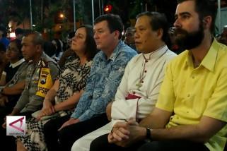 Peringatan 40 hari tragedi bom di Surabaya