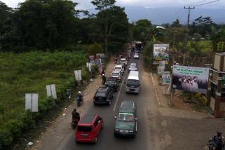 Video - Polisi berlakukan sistem buka tutup di Ajibarang