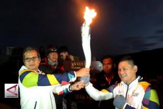 Bersatunya api Asian Games dan api Kawah Ijen
