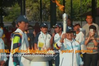Menlu Retno pelari pertama pembawa Obor Asian Games