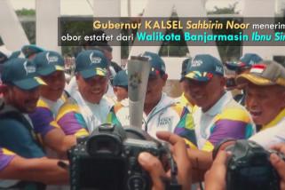 Perjalanan Obor Asian Games 2018 di Banjarmasin