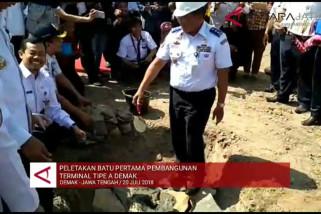 Video - Peletakan batu pertama pembangunan Terminal Tipe A Demak