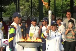 Menlu Retno Jadi Pelari Pertama Obor Asian Games