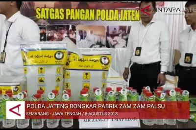 Video - Polda Jateng bongkar Pabrik Zam-zam palsu