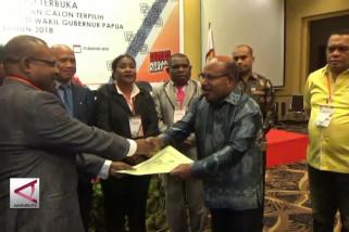 KPU Papua tetapkan Lukas-Klemen gubernur terpilih
