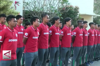 Timnas U-19 gelar upacara HUT RI secara sederhana