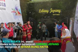 Di Ranah Minang, torch relay masuk Lubang Jepang
