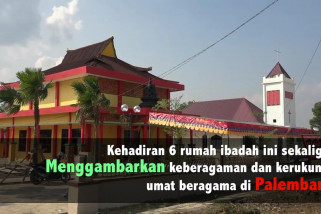 6 Rumah Ibadah berdampingan di Jakabaring