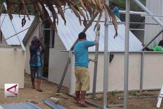 Hunian sementara bagi korban gempa Lombok