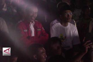 Jokowi nobar penutupan Asian Games di pengungsian