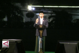 Pesan Jokowi kepada santri, jangan percaya hoaks