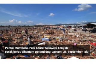 Menengok Pantai Mamboro yang diratakan tsunami
