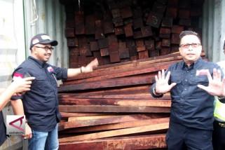 Penyeludupan 40 kontainer kayu ilegal asal sorong