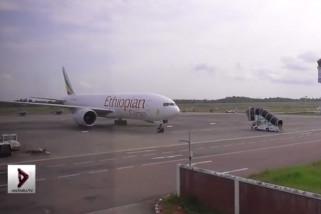 Pesawat kargo Ethiopia dipaksa turun