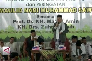 Ma'ruf Amin : Jangan bawa agama jadi isu politik