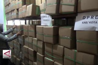 KPU Madiun baru terima tiga jenis surat suara