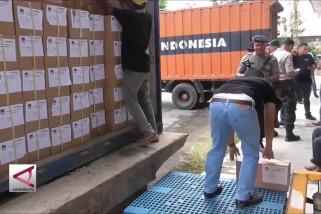 Surat suara KPU Aceh tiba di Medan