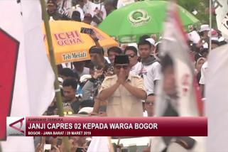 Janji capres 02 kepada warga Bogor