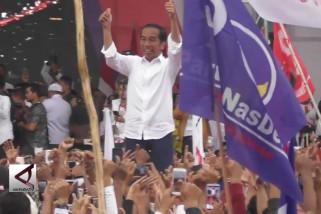 Di Kalsel Jokowi janji wujudkan kereta api Trans Kalimantan